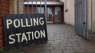 Polling station in Sheffield on 30th October 2014