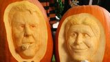 Louis Van Gaal and Manuel Pellegrini pumpkin carvings