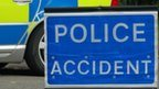 Police accident sign - generic