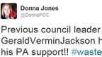 Tweet from Donna Jones