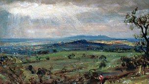 Hampstead Heath, Looking Toward Harrow, 1821, by John Constable.
