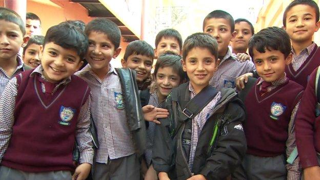 Afghan Kids at school