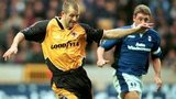 Wolves striker Steve Bull and Blues defender Steve Bruce, Molineux November 1996