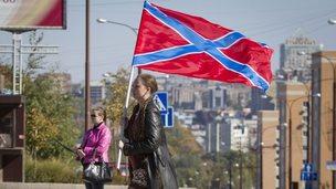 Novorossiya flag, Donetsk, 4 Oct 14