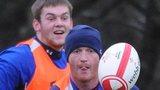 Dan Lydiate and Martyn Williams