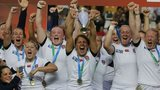 England's women rugby team win the World Cup