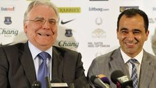 Bill Kenwright and Roberto Martinez