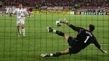 Jerzy Dudek makes the decisive penalty shootout save