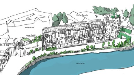 Artists' impression of Lower Steenberg's Yard, Ouseburn