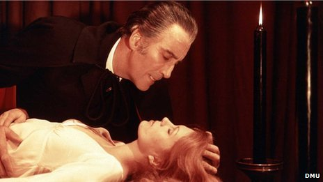 Christopher Lee as Count Dracula in The Satanic Rites of Dracula (1973) - Leicester Hammer Horror Archive