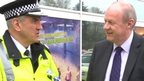 Lincolnshire's Chief Constable Neil Rhodes (left) Policing Minister Damien Green (right)