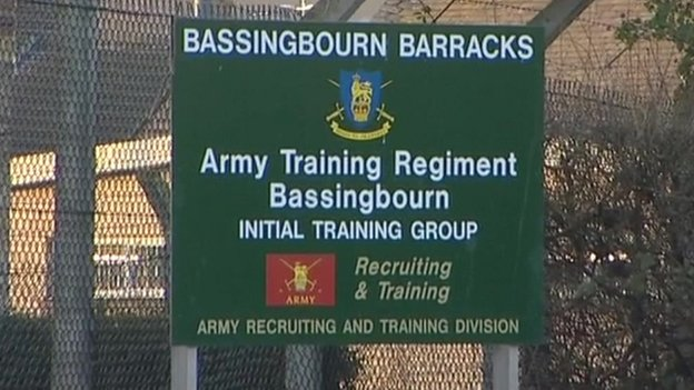 Bassingbourn Barracks sign