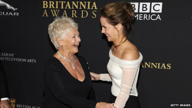 Dame Judi Dench and Emma Watson