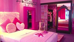 Barbie hotel room