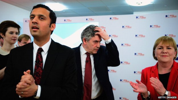 Anas Sarwar, Gordon Brown and Johann Lamont