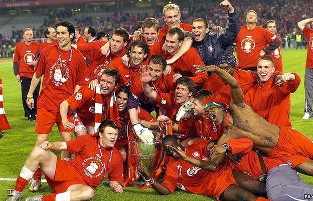 Liverpool's 2005 Champions League winning team
