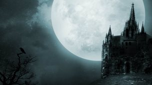 Moonlit Gothic castle