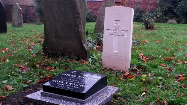 Reinstatement of war grave headstones by the Commonwealth War Graves Commission in Ilkeston