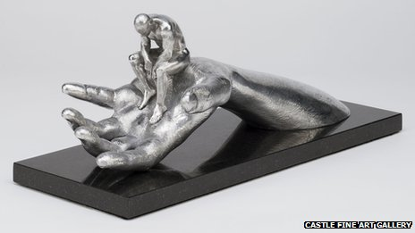 Hand of God sculpture