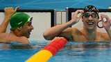 Chad Le Clos and Michael Phelps