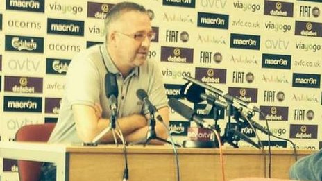 Paul Lambert at a press conference
