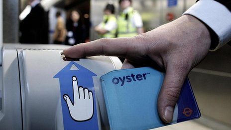 Oyster card and machine