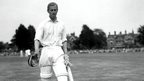 The Duke of Edinburgh walking to the wicket at Dean Park in 1949