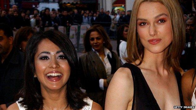 Parminder Nagra and Keira Knightley