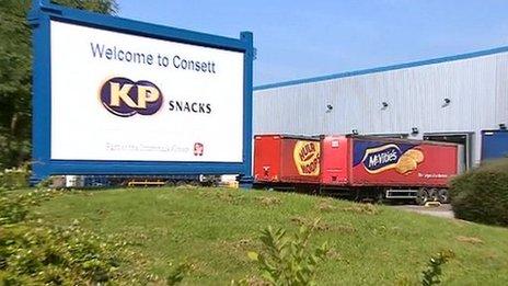 KP Snacks factory in Consett
