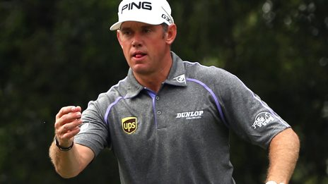 Lee Westwood in second-round action at the CIMB Classic