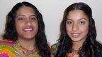 Trisha, 19, and Nisha Lad, 17,