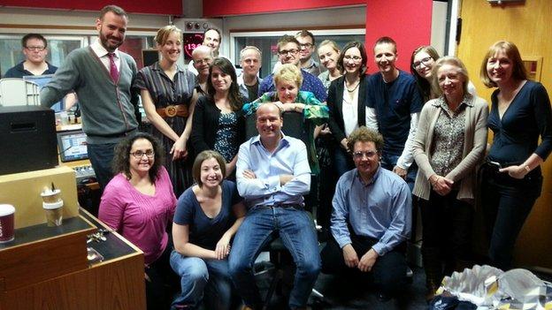 Malcolm Boyden and Radio Oxford staff
