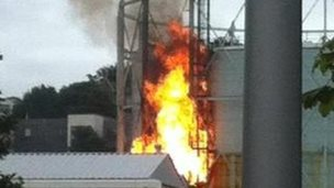Fire at Gas works