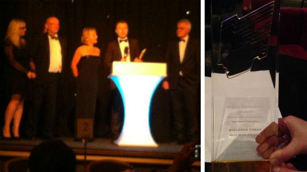 BBC Midlands Today at the Midlands Media Awards