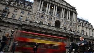 The Bank of England in Threadneedle Street