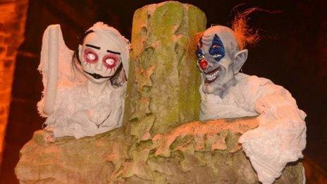 Ghoulish goings on at Sefton village churchyard
