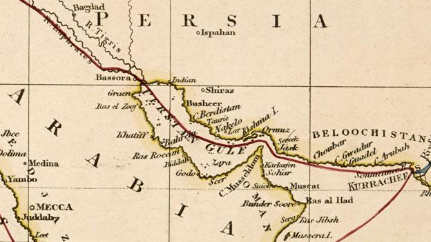 Map showing Gwadar