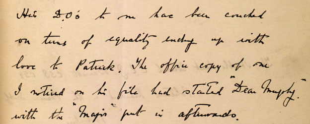 Letter from Murphy to Barrett