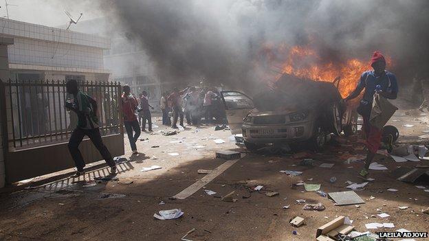 Protest in Ouagadougou, 30 Oct