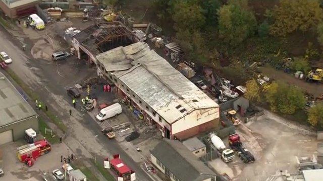 Bodies found after fireworks blaze...