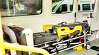 Interior view of a bariatric ambulance