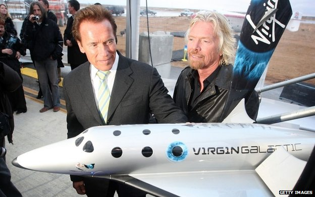 Richard Branson (right) with Arnold Schwarzenegger