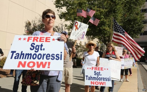 Supporters of Andrew Tahmooressi