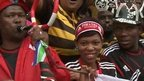 Crowds gather at Moses Mabhida Stadium