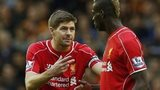 Steven Gerrard and Mario Balotelli