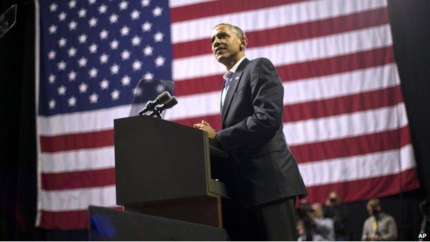 President Barack Obama appeared in Philadelphia, Pennsylvania, on 2 November 2014