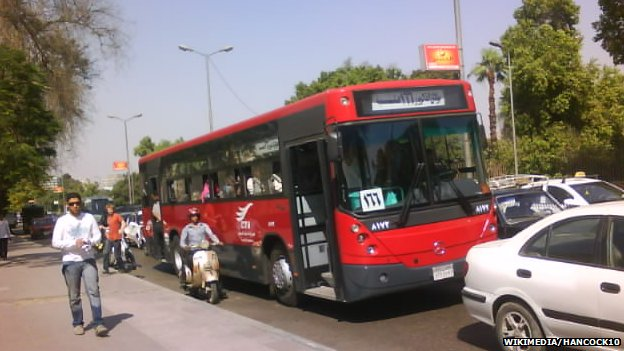 An Egyptian public bus