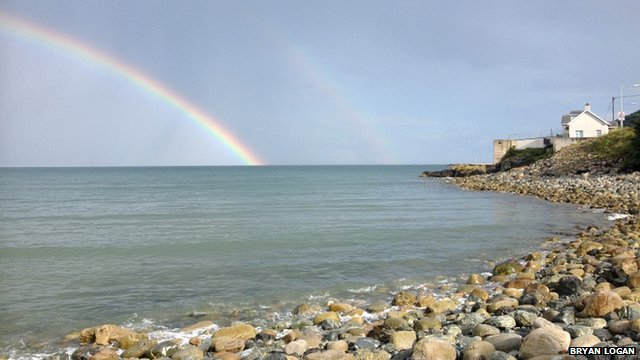 Dual rainbows over Newcastle, County Down