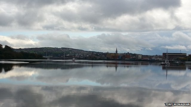 A peaceful River Foyle in Londonderry