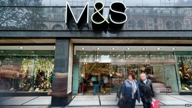 BBC News – M&S sees clothing sales fall over Christmas period